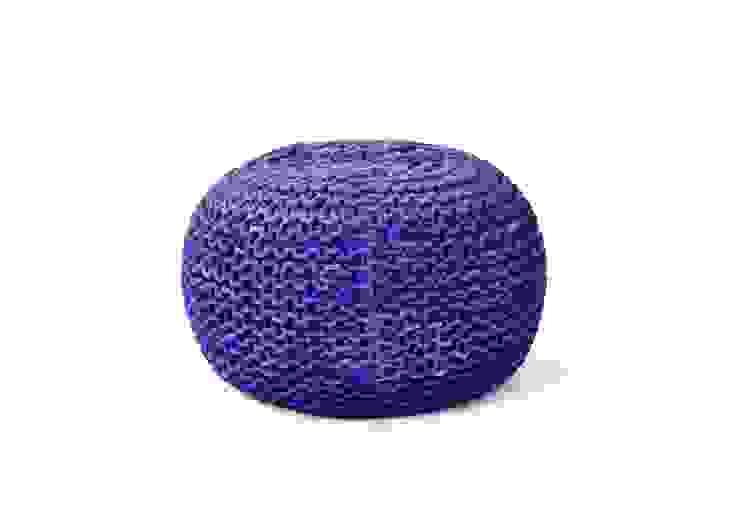 Blue Ottomans Poufs: modern  by Natural Fibres Export,Modern