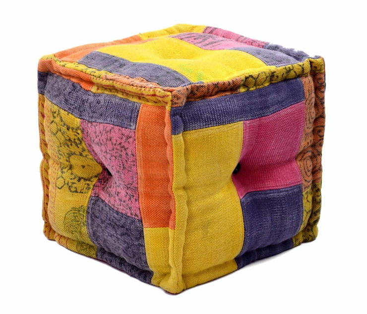 Handmade Poufs Otttomans:  Dressing room by Natural Fibres Export