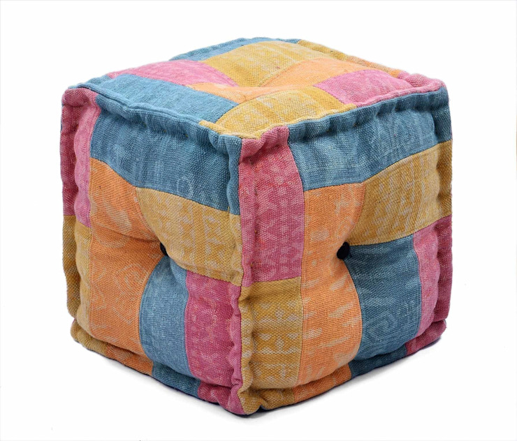 Handmade Ottomans Pouffe: asian  by Natural Fibres Export,Asian