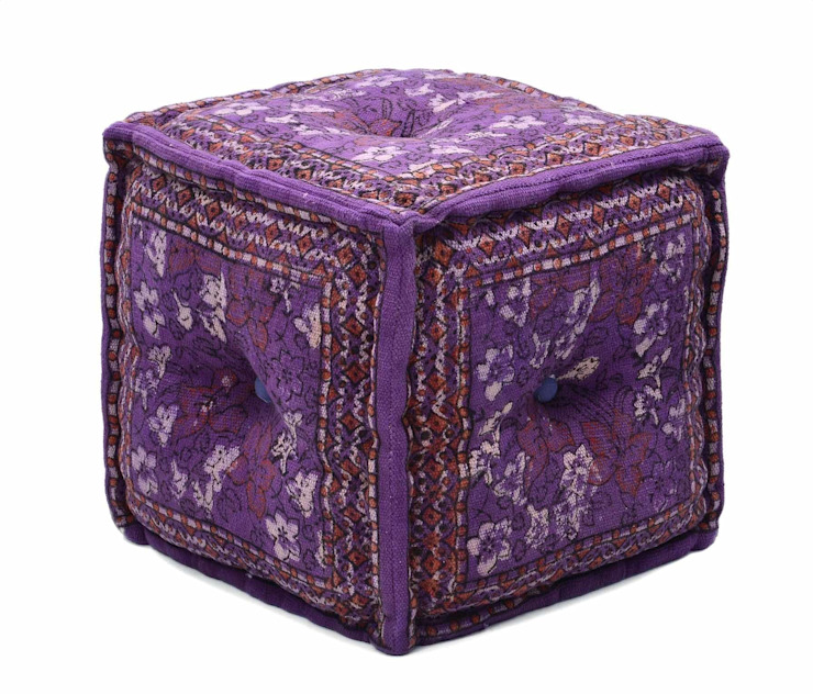 Cotton Printed Ottomans Poufs: modern  by Natural Fibres Export,Modern