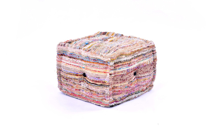 Chindi Ottomans Poufs: modern  by Natural Fibres Export,Modern