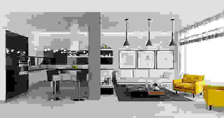 Дизайн загородного дома в стиле минимализм Кухня в стиле минимализм от Space - студия дизайна интерьера премиум класса Минимализм