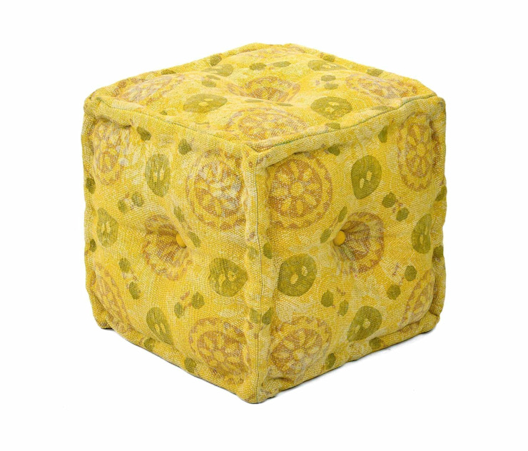 Yellow Ottomans: modern  by Natural Fibres Export,Modern