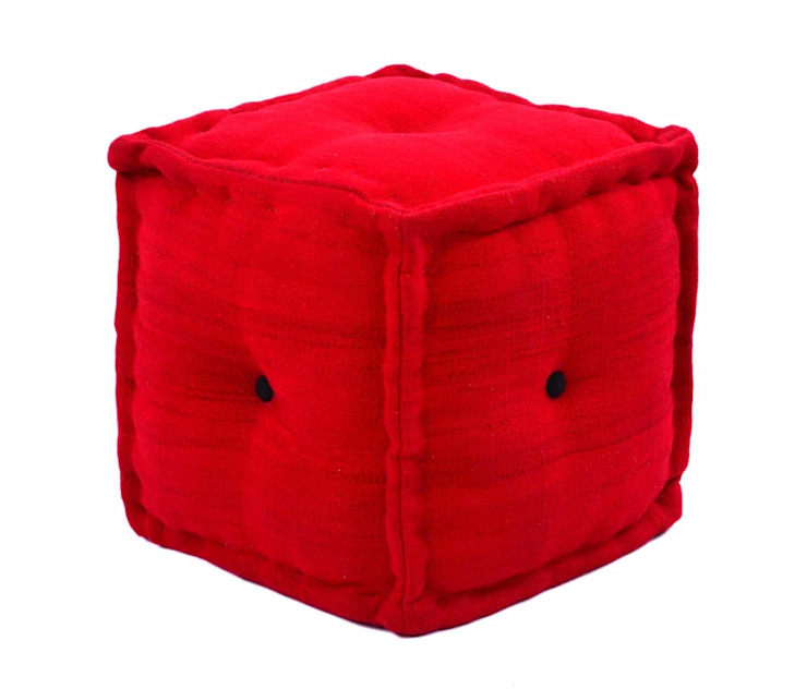 Red Ottomans for Red theme Interior : modern  by Natural Fibres Export,Modern