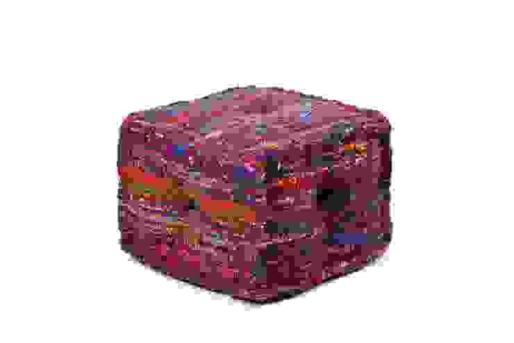 Handmade Cotton Silk Poufs Modern living room by Natural Fibres Export Modern