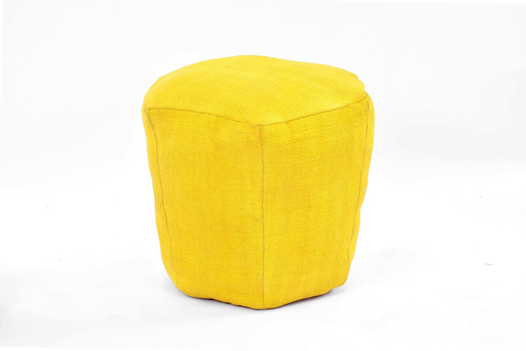 Yellow Ottomans Modern style bedroom by Natural Fibres Export Modern