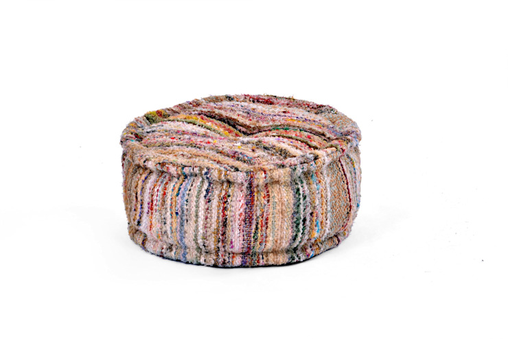 Round Chindi Poufs: modern  by Natural Fibres Export,Modern