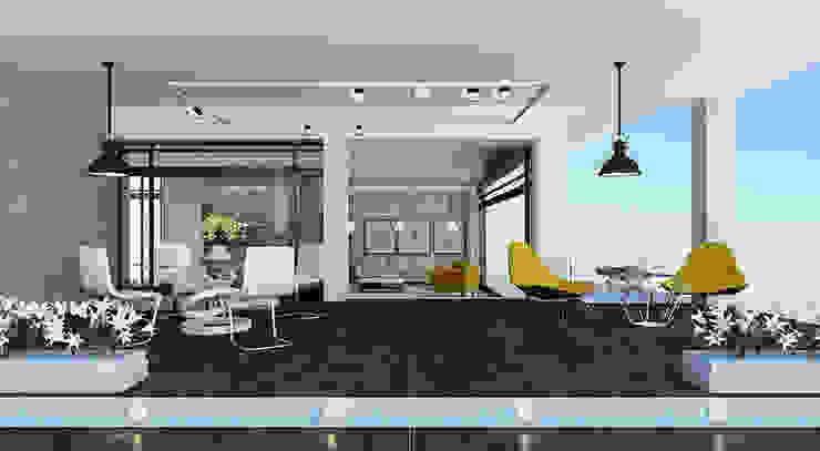 Дизайн загородного дома в стиле минимализм Рабочий кабинет в стиле минимализм от Space - студия дизайна интерьера премиум класса Минимализм