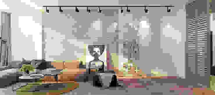 Квартира для молодой пары Гостиная в стиле минимализм от Котова Ольга Минимализм