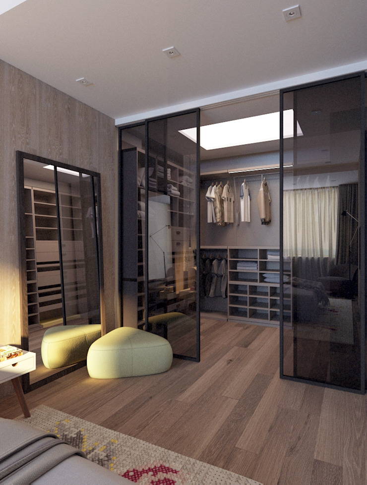 Квартира для молодой пары Спальня в стиле минимализм от Котова Ольга Минимализм