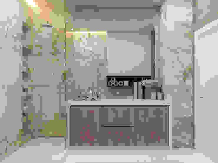 Квартира для молодой пары Ванная комната в стиле минимализм от Котова Ольга Минимализм