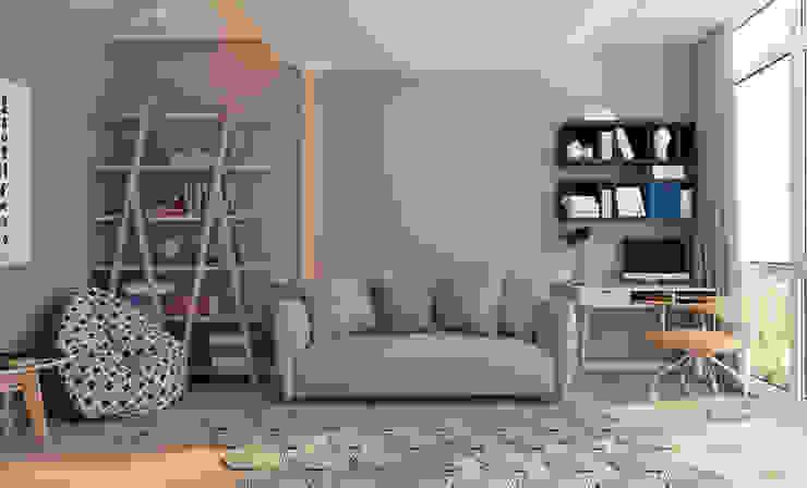 Квартира для молодой пары Детская комнатa в стиле минимализм от Котова Ольга Минимализм