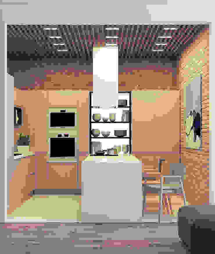 Квартира для молодой пары Кухня в стиле минимализм от Котова Ольга Минимализм