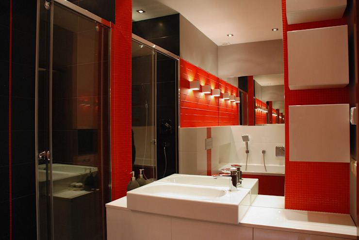 Baños de estilo moderno de ARCHINSIDE STUDIO KATARZYNA PARZYMIES Moderno