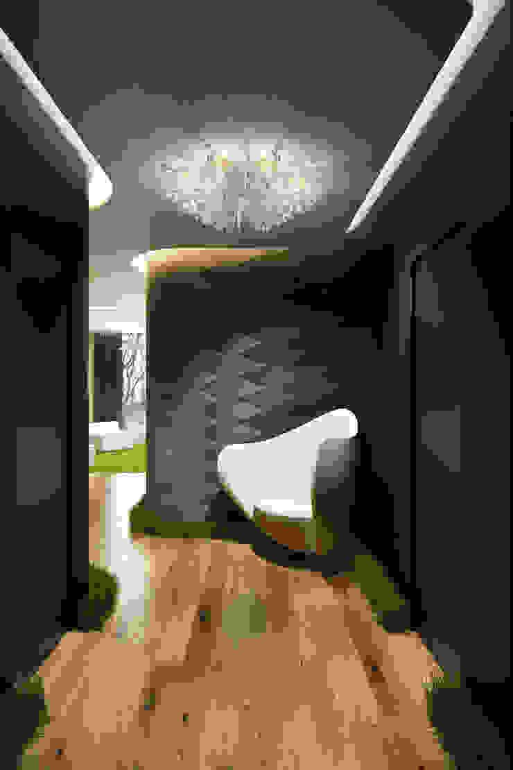 Ближе к природе Коридор, прихожая и лестница в эклектичном стиле от Rasskazova Maria Эклектичный