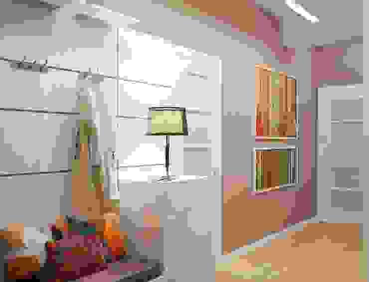 Узкая прихожая - решаем проблему правильно Коридор, прихожая и лестница в модерн стиле от Студия дизайна Interior Design IDEAS Модерн