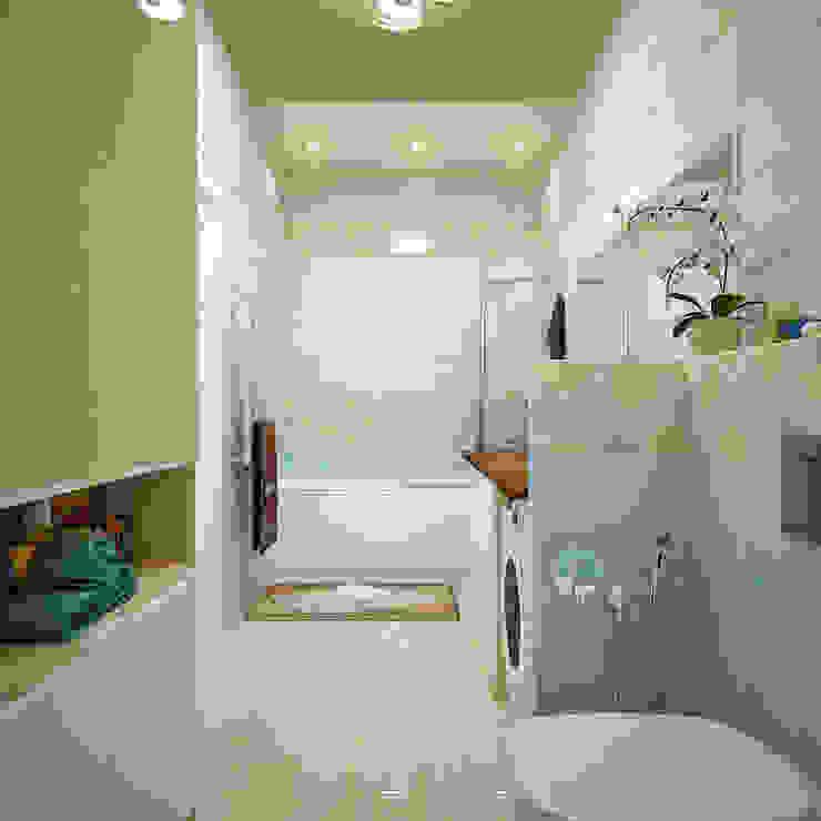 Грамотный интерьер для узкой ванной комнаты Ванная комната в стиле модерн от Студия дизайна Interior Design IDEAS Модерн