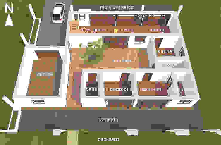 Ground floor. : modern  by Kay Studio,Modern