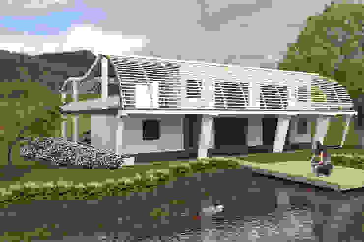 Lake on the backyard. Modern houses by Kay Studio Modern
