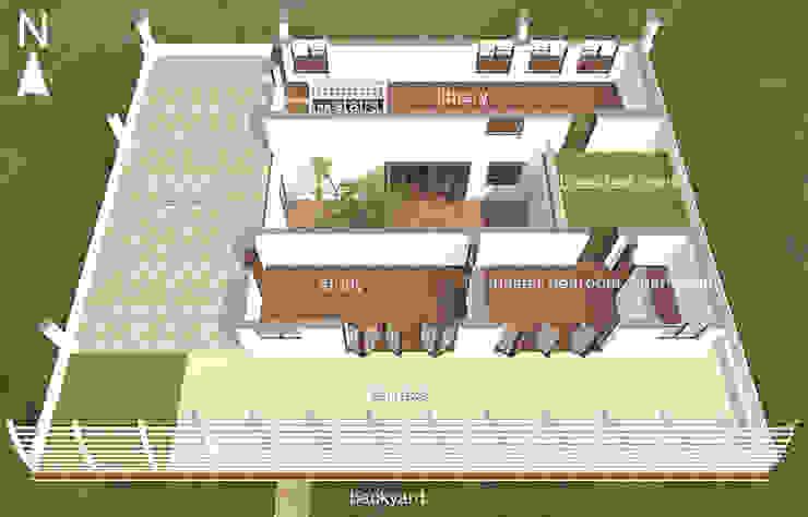 1st floor.: modern  by Kay Studio,Modern