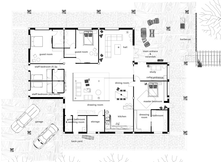Ground floor. : country  by Kay Studio,Country