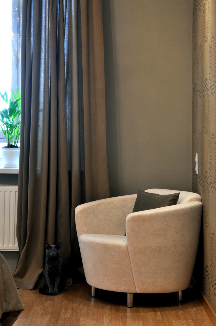 Квартира на Приморском проспекте Студия Анастасии Бархатовой Спальня в эклектичном стиле