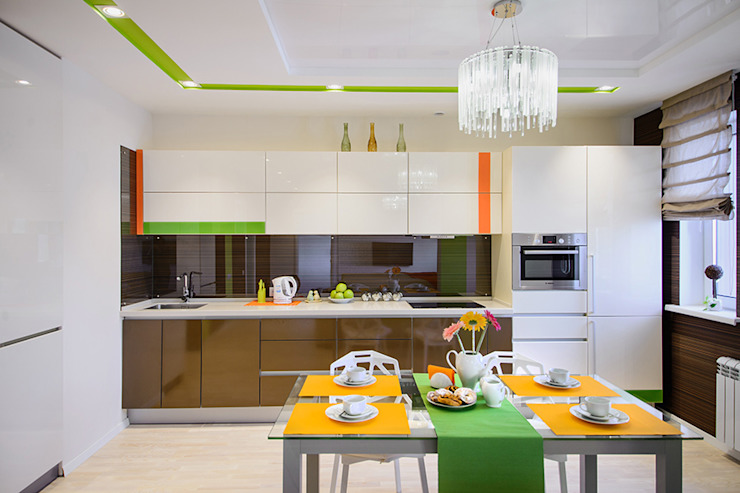 Eclectic style kitchen by Студия Анастасии Бархатовой Eclectic