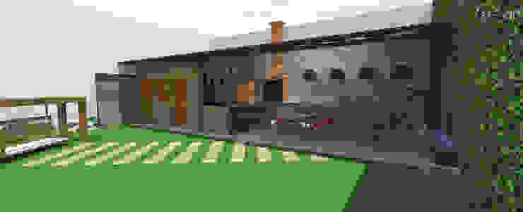 Área Gourmet, lazer para a família e amigos. Cozinhas rústicas por start.arch architettura Rústico