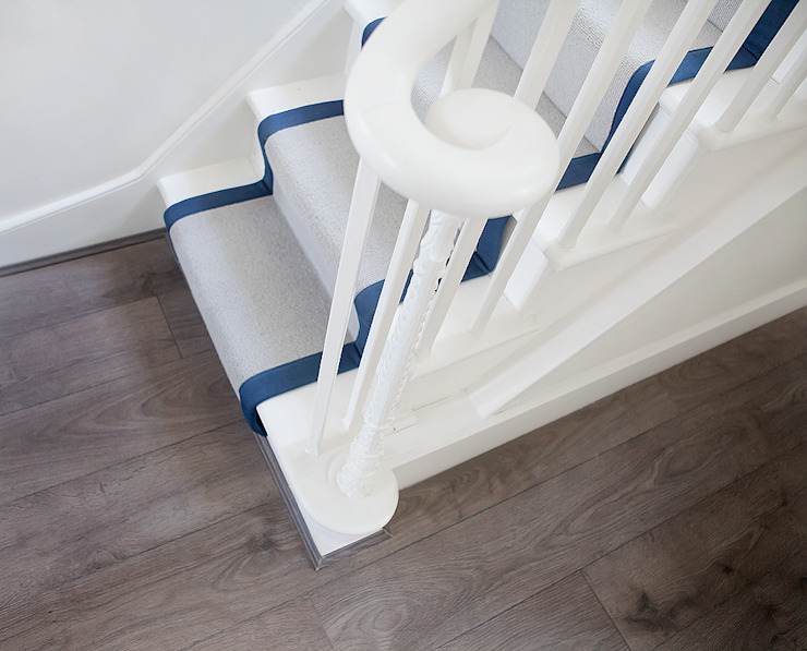 Runners on staircase Classic style corridor, hallway and stairs by William Gaze Ltd Classic