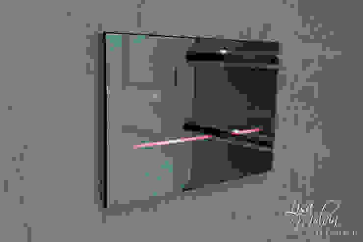 Geberit Sigma 80 現代浴室設計點子、靈感&圖片 根據 Lisa Melvin Design 現代風