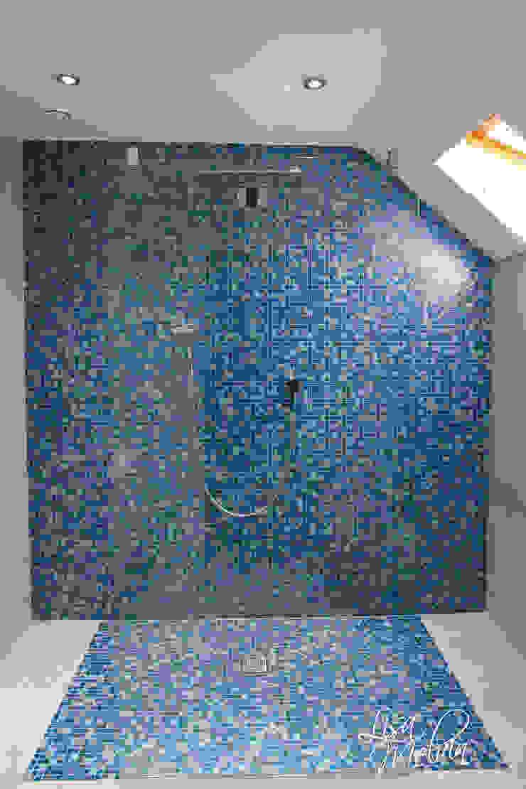 Wet Room 現代浴室設計點子、靈感&圖片 根據 Lisa Melvin Design 現代風