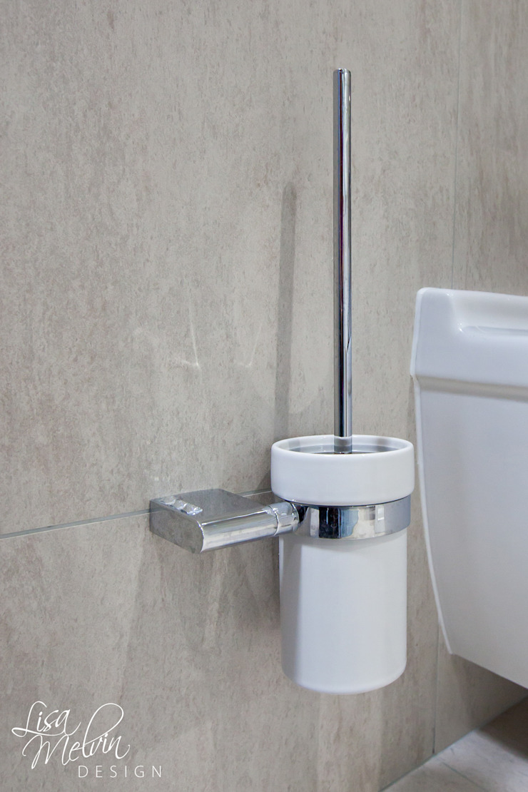 Accessories 現代浴室設計點子、靈感&圖片 根據 Lisa Melvin Design 現代風