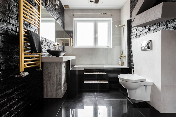 Eclectic style bathroom by Archikąty Eclectic