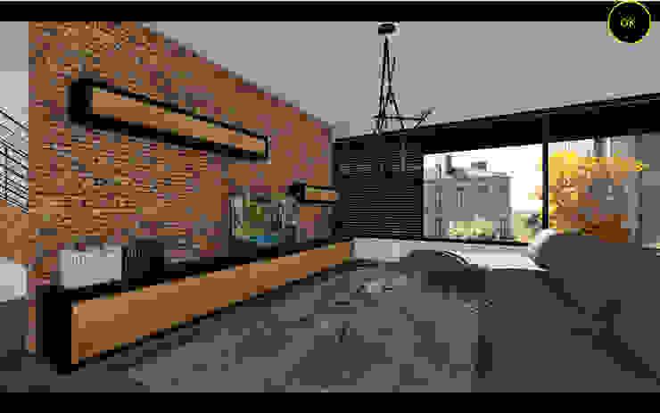 OK-İÇ MİMARİ – S..B.. SALON VE MUTFAK Ofis K Mimarlık ve Tasarım Rustik