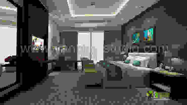 Realistische 3D Photo Interior Design Schlafzimmer Hotel Modern hotels by Architectural Design Studio Modern
