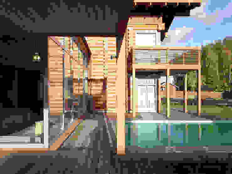 Locomotion-1 NEWOOD - Современные деревянные дома Бассейн в классическом стиле