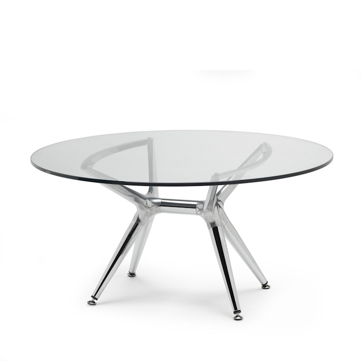 'Milano' round coffee table chrome legs/glass top by Scab de My Italian Living Moderno