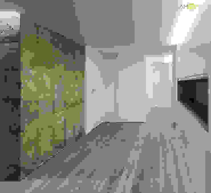 ACCESO Pasillos, vestíbulos y escaleras de estilo minimalista de amBau Gestion y Proyectos Minimalista