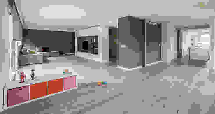 ZONA ESTAR Salones de estilo minimalista de amBau Gestion y Proyectos Minimalista
