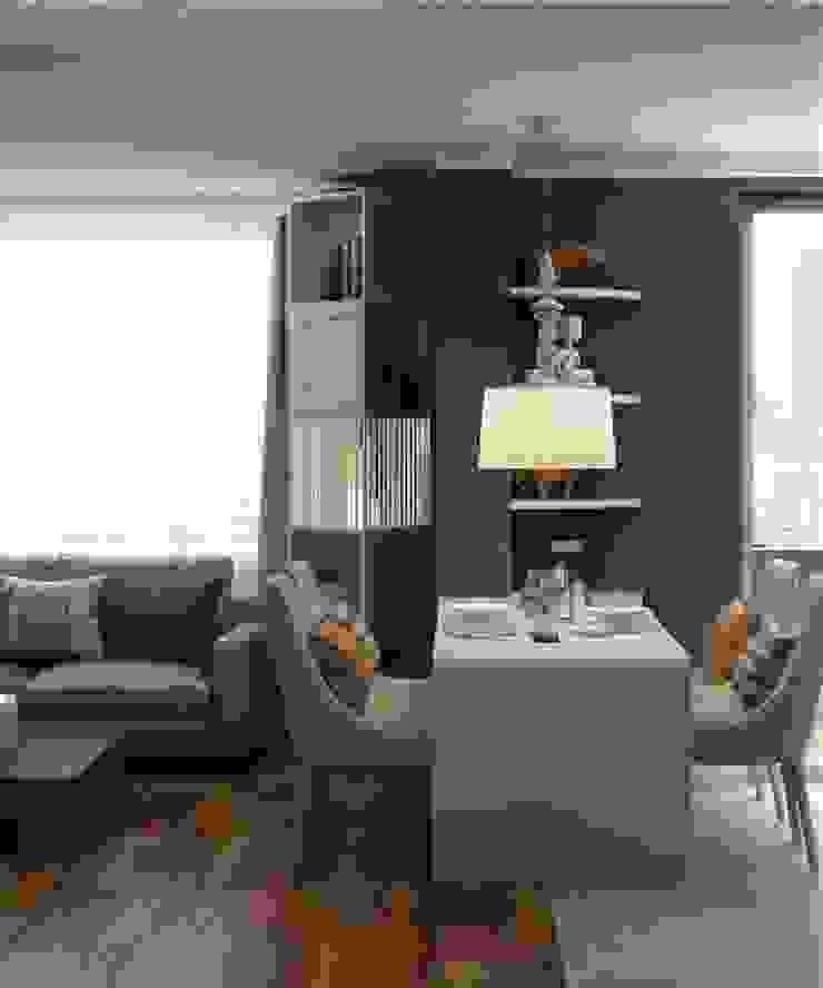 Дизайн в современном стиле 3к.кв Гостиная в классическом стиле от MoRo Классический