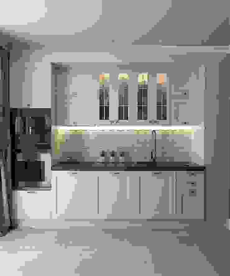 Дизайн в современном стиле 3к.кв Кухня в классическом стиле от MoRo Классический