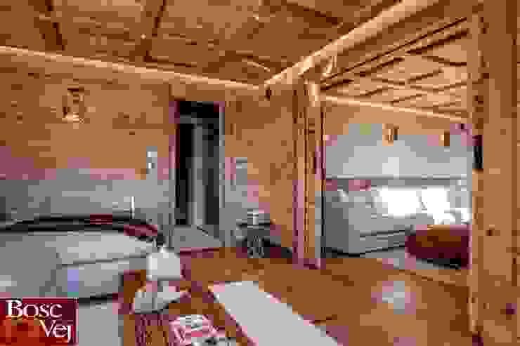 Chalet Excelsior w Crans Montana w Szwajcarii: styl , w kategorii Salon zaprojektowany przez Bosc Vej s.r.l.,Rustykalny