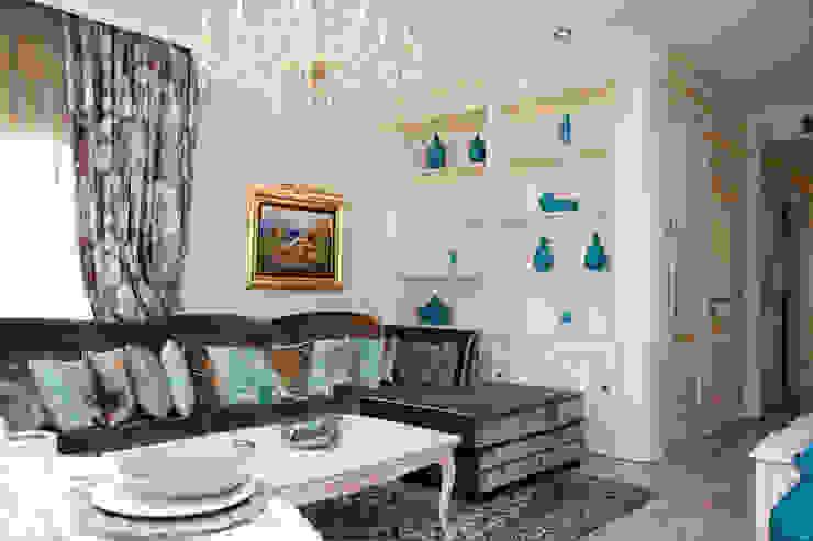 salón Salones de estilo mediterráneo de Emalia Home Design Mediterráneo
