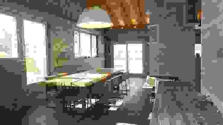 prywatny apartament w Megeve, Francja Rustykalna jadalnia od Bosc Vej s.r.l. Rustykalny