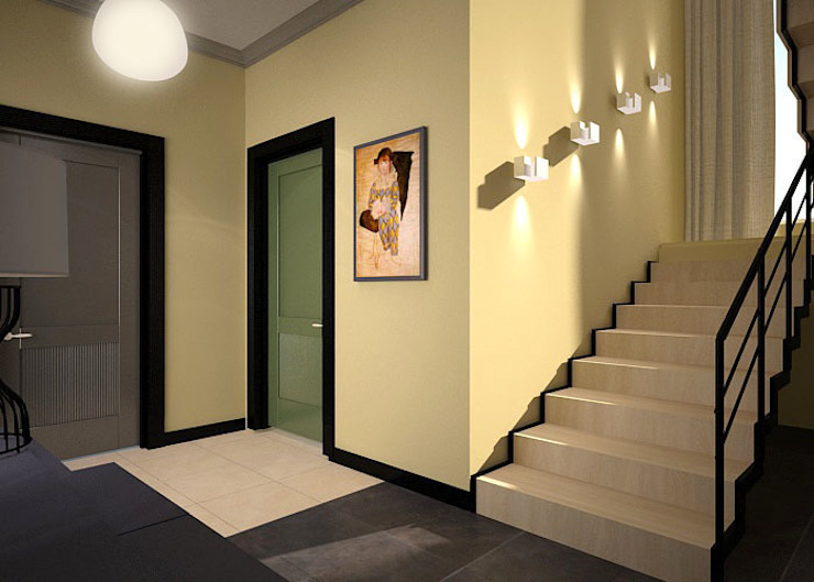 Дом солнца Коридор, прихожая и лестница в эклектичном стиле от RED LIGHTs Эклектичный