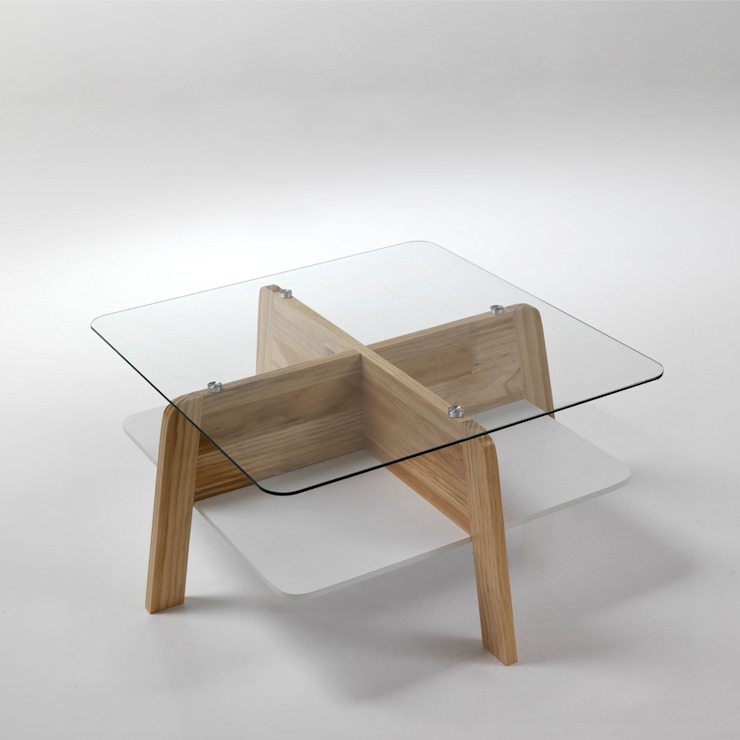 'Warm' Square solid wood & glass coffee table by Tomasucci de My Italian Living Moderno