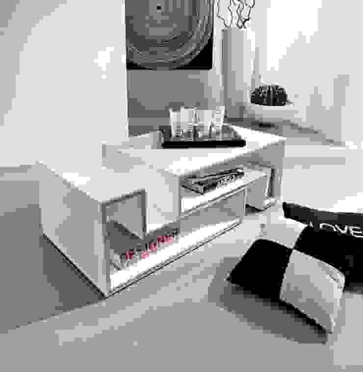'Marika' Transformable white gloss coffee table by La Primavera de My Italian Living Moderno