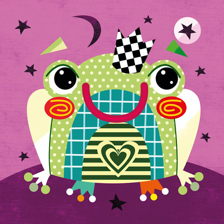 Fairytale Frog Nursery Print by Witty Doodle Witty Doodle ArtworkPictures & paintings