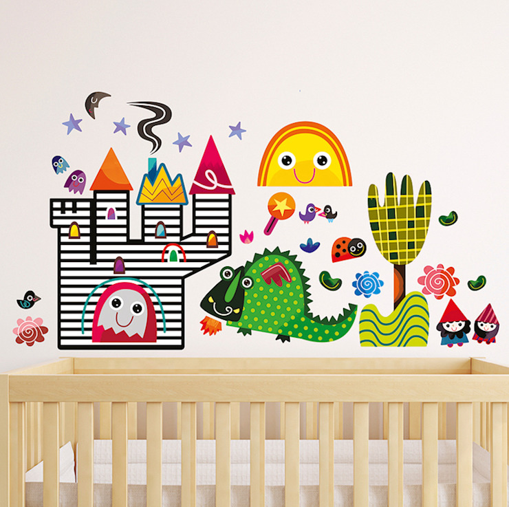 Fairy Tale Nursery Wall Stickers by Witty Doodle de Witty Doodle Moderno
