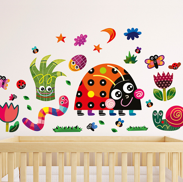 Meadow Nursery Wall Stickers by Witty Doodle di Witty Doodle Moderno